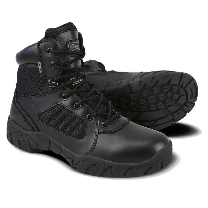 Ejército Militar media cuero 15.2cm funcional Negro Pro Botas Combate Patrulla Negro funcional 39952f