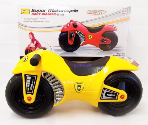 Super Motorcycle Baby Walker Glide Kids Toddler Push Along Balance Bike 3+