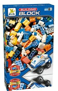 Building Blocks Construction Brick Kids Learning Fun Toys Gift 1000 Pcs POLICE