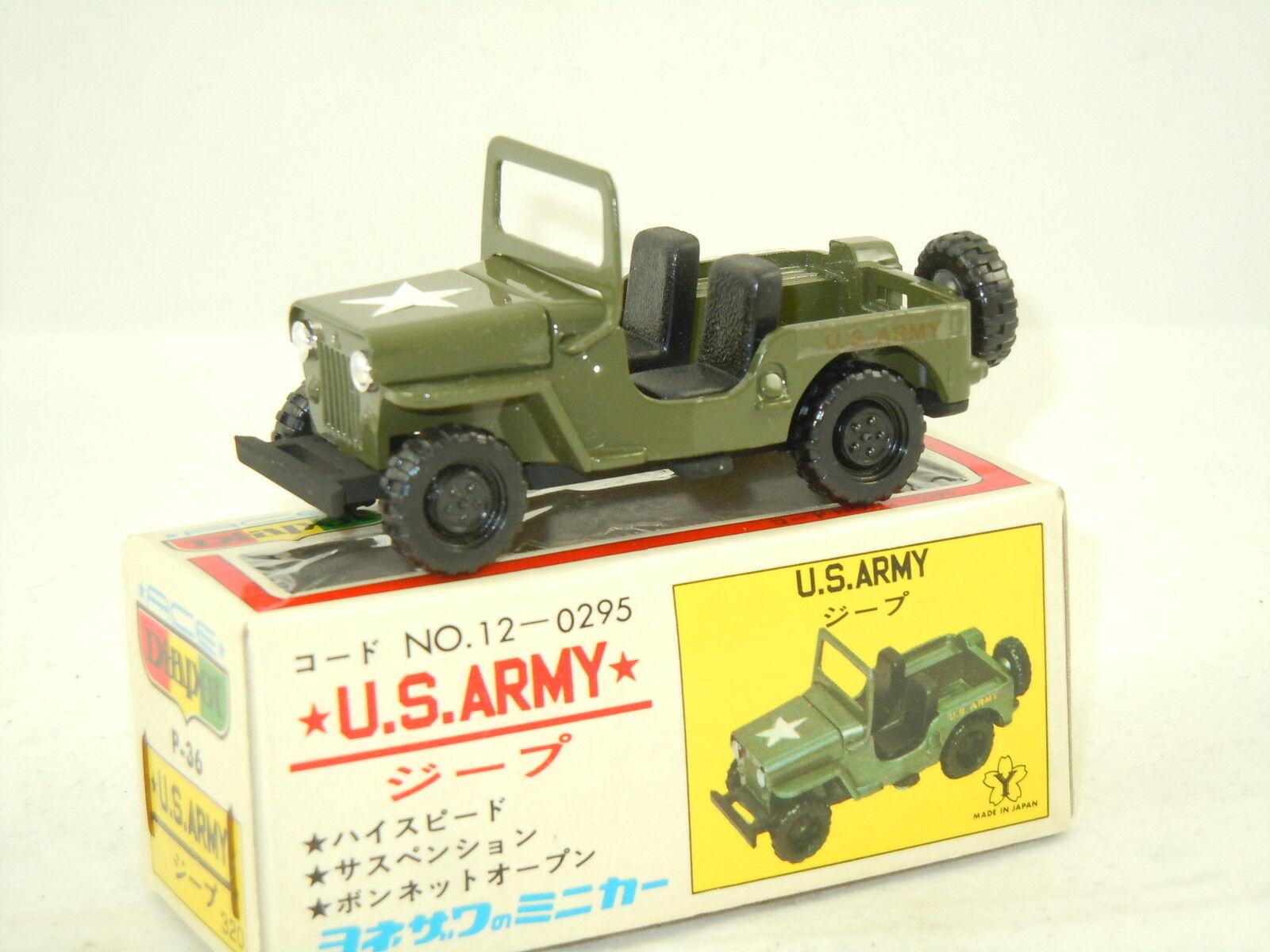 Mitsubishi Jeep U.S. Army van Diapet Yonezawa Toys P-36 Japan 2798