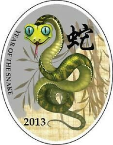 "Niue 2012 1$ YEAR OF THE SNAKE  /""CHINESE CALENDAR/"" Series Fairy Tale Silver Coin"