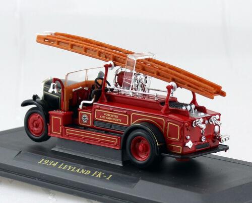 Leyland fk-1 bomberos 1934 rojo 1:43 yat ming maqueta de coche