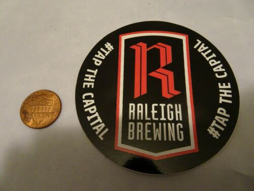 Raleigh Raleigh Brewing Co NC square bumper sticker decal FREE SHIPPING