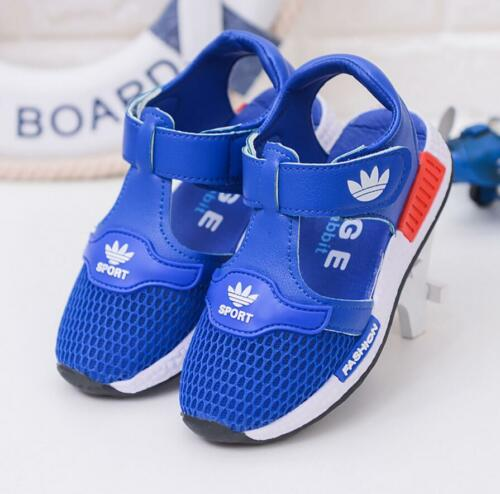 Girls Boys Close Toe Mesh Sandals Toddler Kids Walk Casual Sport Beach Shoes New