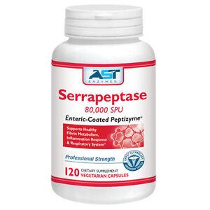 Serrapeptase-80KSPU-120Cap-Natural-Systemic-Enzyme-Respiratory-Sinus-system