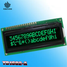 LCD1602A 16x2 3.3V 1602 Green Character LCD Stable Black Background