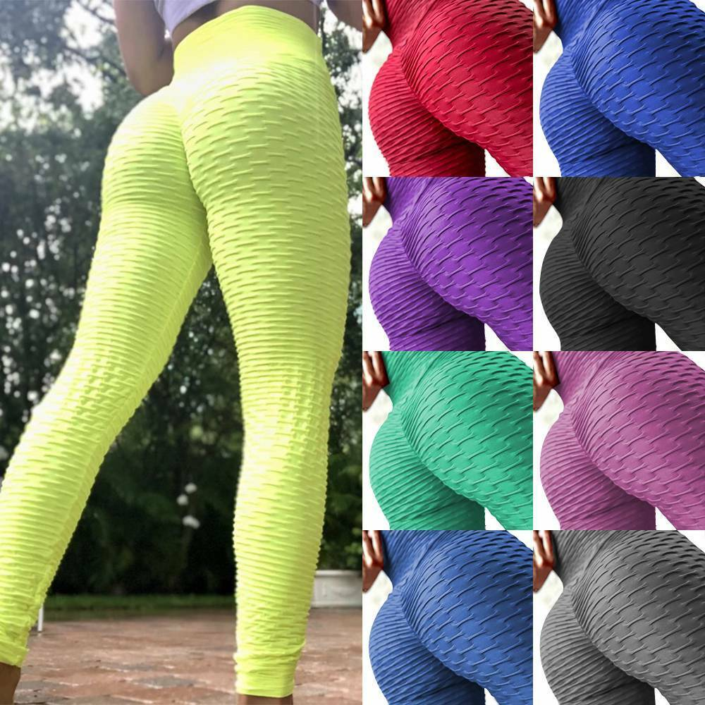 Women Scrunch Anti Cellulite Butt Lift Leggings Booty Yoga Pants Gym Trousers A8