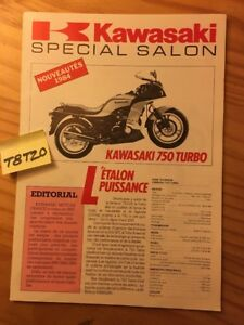 Details about Kawasaki 84 750 900 Ninja ZX ZX750 turbo KLR600 cross  prospectus motorrad