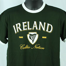 Lansdowne Mens M Ireland Green TShirt S/S Celtic Nation Relaxed Fit Medium