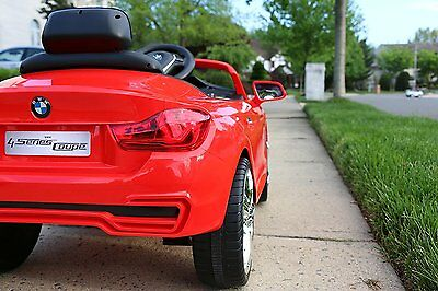 BMW 4-Series Red First Drive 6v Kids Cars Electric Power Ride On Car with Remote