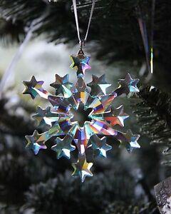 SWAROVSKI 2004 snowflake ornament AB POLAR COATING ...