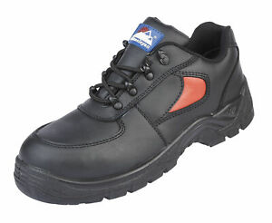 HIMALAYAN-3413-S1P-black-red-leather-steel-toe-safety-trainer-shoe-with-midsole