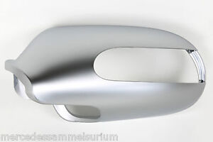 Mercedes-Benz-Original-Exterior-Mirror-Caps-Chrome-Matte-R-230-Sl-New-Sealed