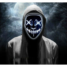 3-Modes Scary Mask Cosplay Led Costume Mask EL Wire Light Up for The Movie