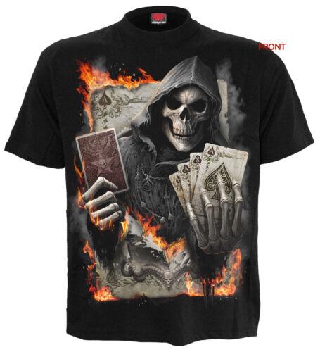 SPIRAL DIRECT ACE REAPER T-Shirt//Tattoo//Skull//Poker//Cards//Card//Dead Man//New//Top