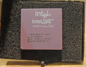 Intel i486 DX4 CPU - A80486DX4-100, 3 Volt