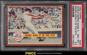 1962-Topps-Roger-Maris-WORLD-SERIES-GAME-3-234-PSA-8-5-NM-MT