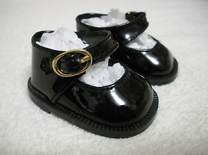 Fits-18-034-Tiny-Tears-Doll-Black-Patent-Leather-Mary-Jane-Doll-Shoes-D1312