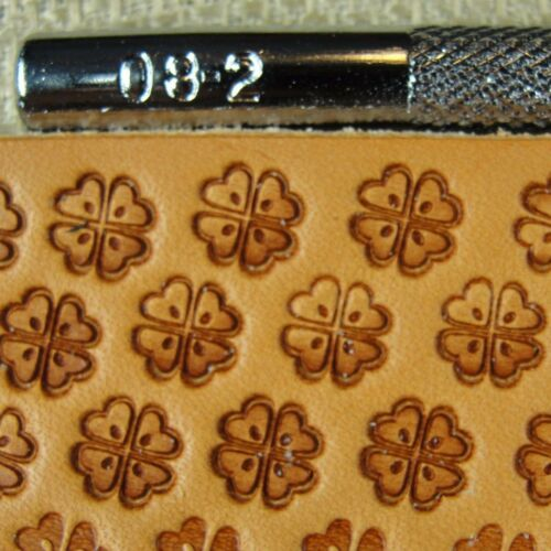 Leather Stamping Tool Craft Japan #O8-2 Four Leaf Clover Stamp