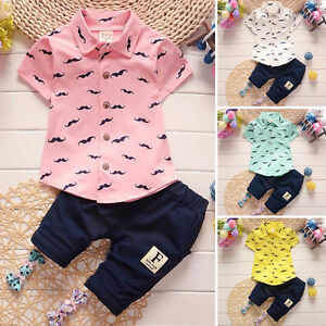 infantil-recien-nacido-bebe-nino-Ropa-Disfraz-Sueter-Camiseta-pantalones