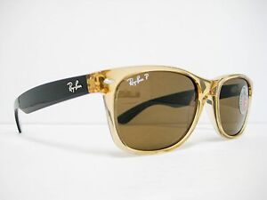 403ff35d75a new authentic Ray Ban Wayfarer Sunglass Honey Brown Polarized 55mm ...