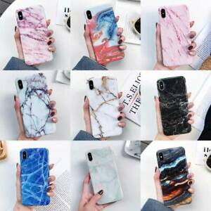 For-iPhone-XS-Max-XR-X-6S-7-8-Plus-Marble-Pattern-TPU-Case-Shockproof-Back-Cover