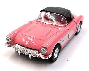 1957-Chevrolet-Corvette-Fucsia-Modellino-Auto-Auto-Scala-1-3-4-Licenza