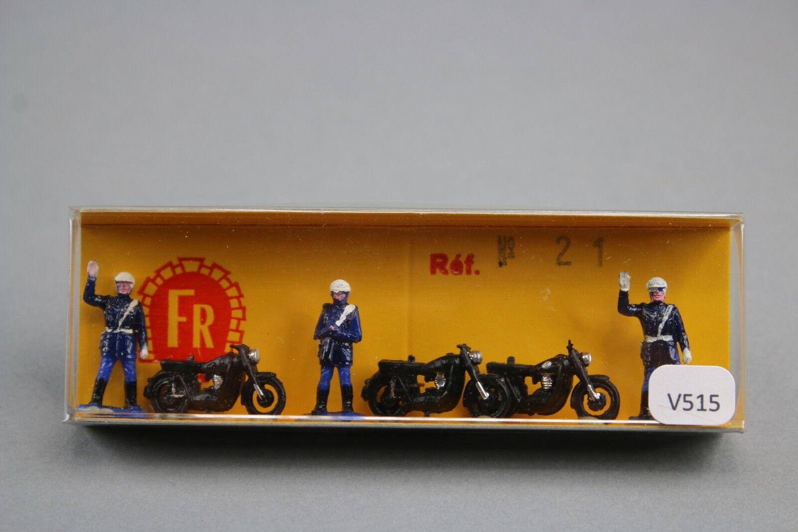 V515 FR rare boite 21 Ho train moto police gendarmerie diorama decor