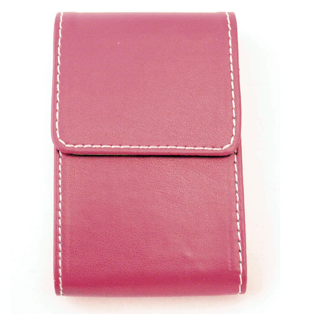 Faux Cuir Rose Porte Carte de Visite Identité Crédit Étui Portefeuille Femme Sac