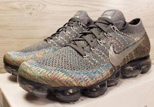 Image is loading Nike-Air-Vapormax-Flyknit-Multicolor-Grey-Silver-Fashion- 2fc076d38a71