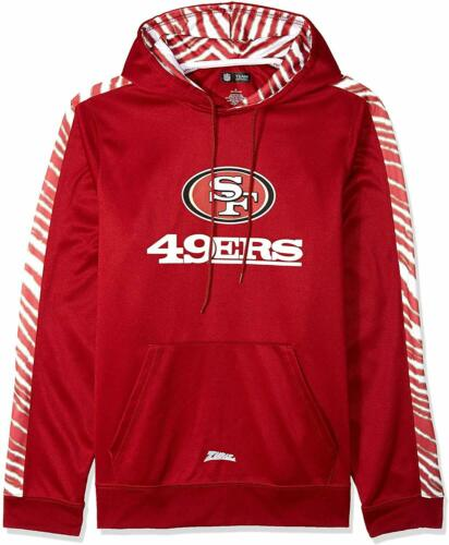 Zubaz NFL Football Men/'s San Francisco 49ers Zebra Accent Solid Hoodie