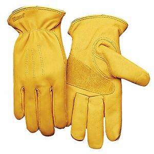 KINCO 198HK-M Men's Lined Premium Grade Grain Cowhide Leather Gloves, Heat Keep