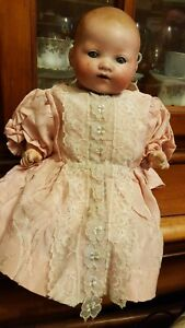 14-034-ARMAND-MARSEILLE-A-M-Germany-351-3-1-2-K-Bisque-Head-Baby-Doll