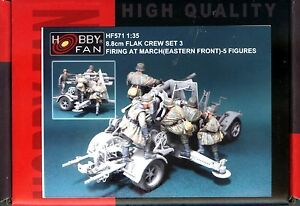Hobby-Fan-1-35-HF-571-WWII-German-8-8cm-Flak-Crew-Firing-at-March-Set3-5-Fig