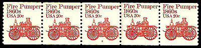 Very Rare ~ US #1908 ~ Plate #2 // MNH Plate Number Coil Strip of 5 [PNC-5]