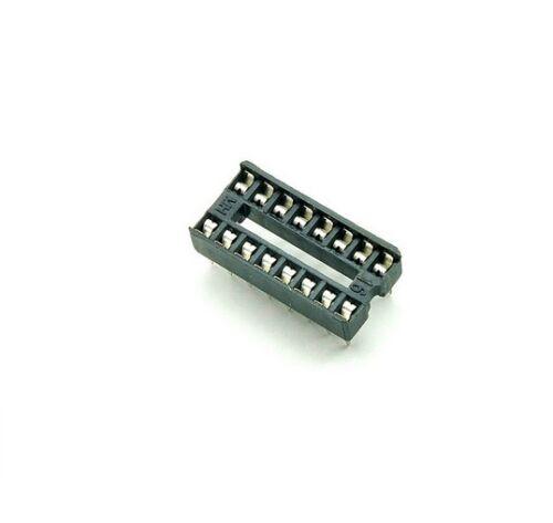 100PCS 16-Pin 16pins DIL DIP IC Socket PCB Mount Connector NEW