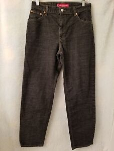 Levi-039-s-550-Womens-Black-Classic-Relaxed-Stretch-Tapered-Leg-Jeans-Pants-Size-10M