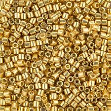 Miyuki Delica Seed Beads 3mm Size 8/0 Duracoat Galvanized Gold 6.8g Tube (J97/4)