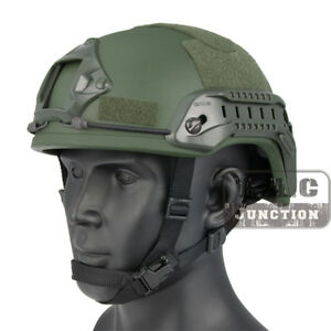 Emerson Tactical ACH MICH 2001 TC-2001 Helmet Advanced w// NVG Shroud /& Side Rail