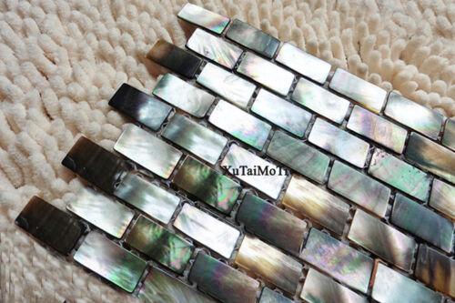 Black Lip Shell Mosaic Tile Mother of Pearl Kitchen Backsplash Decoravtive Wall