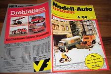 MODELL-AUTO 6/1984 -- VW-Pritschenwagen Westfalia / Feuerwehrmodelle aus der DDR