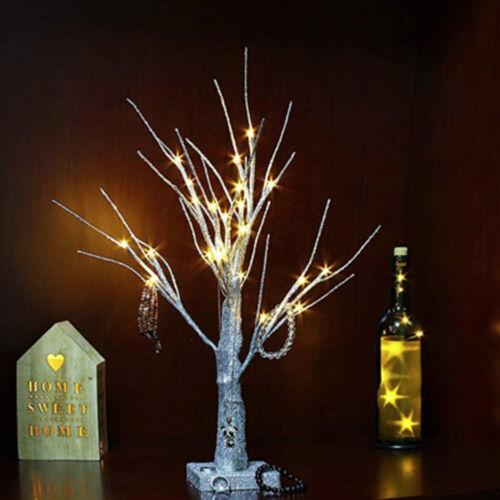 Christmas Birch Tree Light Up 24 LED Warm White Twig Tree Easter Home Xmas Decor
