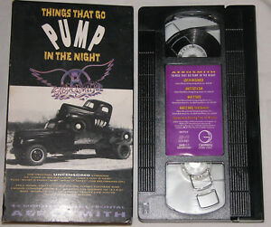 Aerosmith-Things-That-Go-Pump-in-the-Night-VHS-1990-Original-Uncensored-Versions