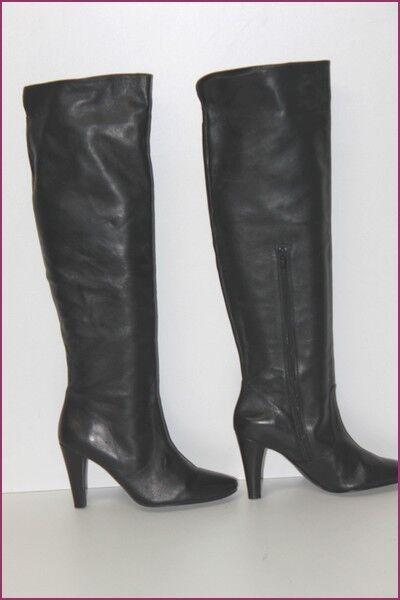 Minelli hohe Stiefel schwarzes Leder t 36 top Zustand