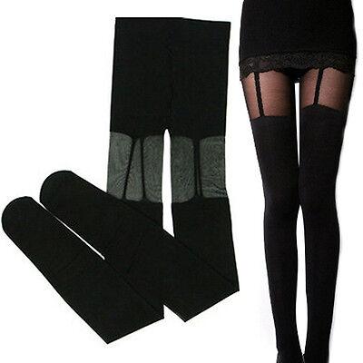 Stylish Stunning Stretchy Stockings Sexy Black Leggings Socks Decorated Garters