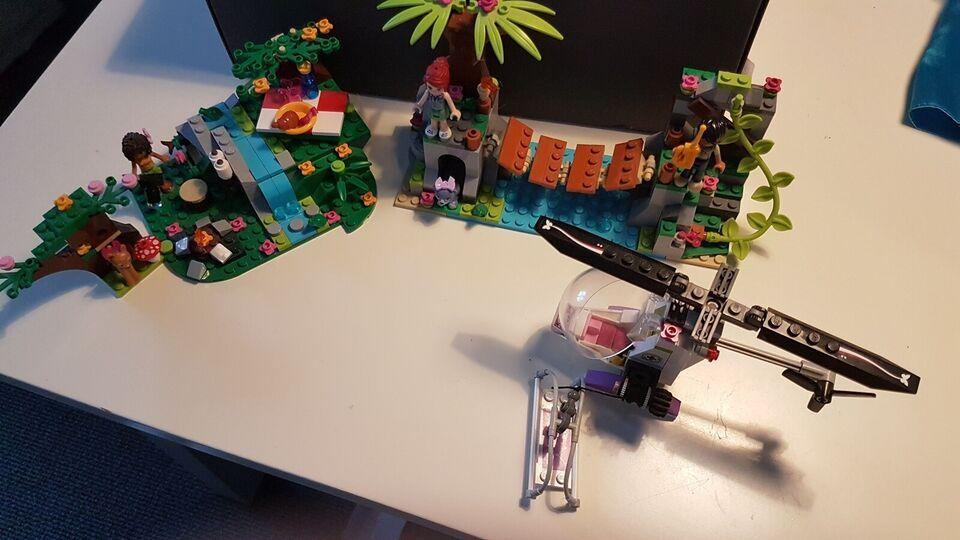 Lego Friends, Hængebro og helikopter, speedbåd