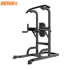 SPORT Dip Station Pull Up Bar Fitness Power Tower Exercise Equipment Machine