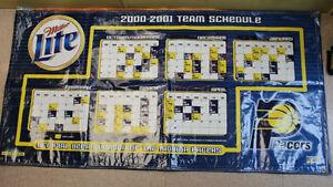 NOS-MILLER-LITE-2000-2001-PACERS-TEAM-SCHEDULE-BANNER-3-039-X5-039