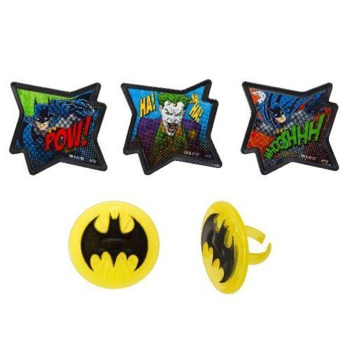 Batman Joker Whoosh POW Cake Topper Cupcake Décoration Sugarcraft Party Decor