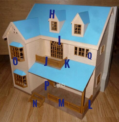 Sylvanian families Oakwood Manor House on Hill Spares Blue Roof Calico critters